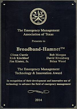 2014 Emergency Managaers Assn of Texas Tech and Innovation Award